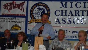 President Terry Walsh at the 40th annual MCBA Dinner
